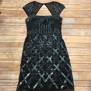 Adrianna Papell Beaded Short Cocktail Dress, 6 NWT